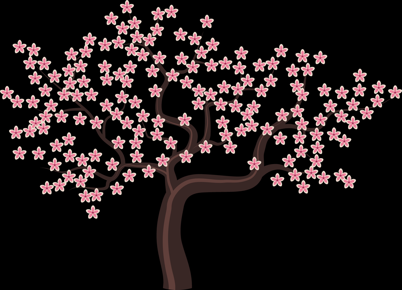 Tree Bunga Sakura No Background Clipart Full Size