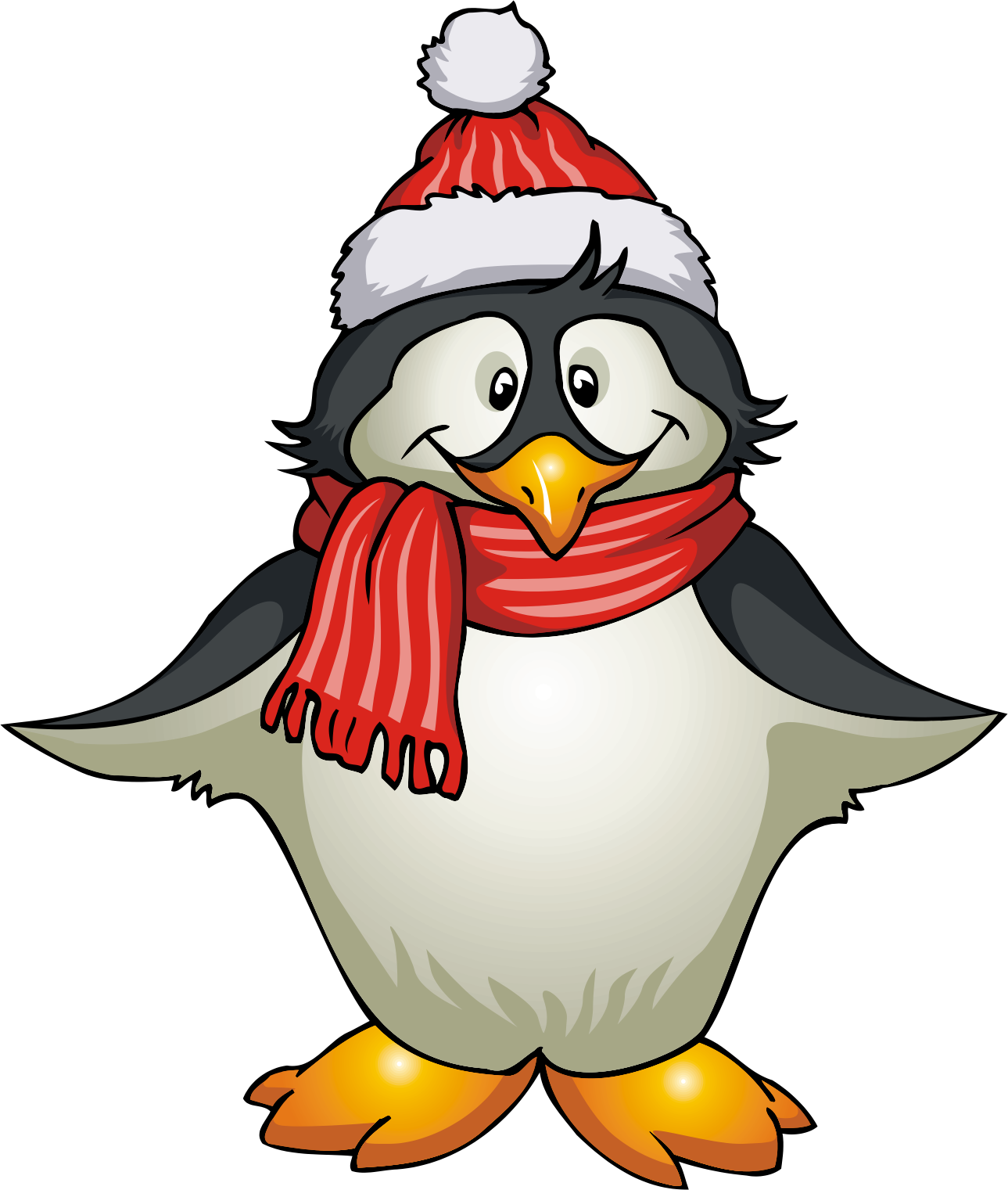 Winter Penguin Clip Art Black And White Winter Clipart Png Download Full Size Clipart 2121 Pinclipart