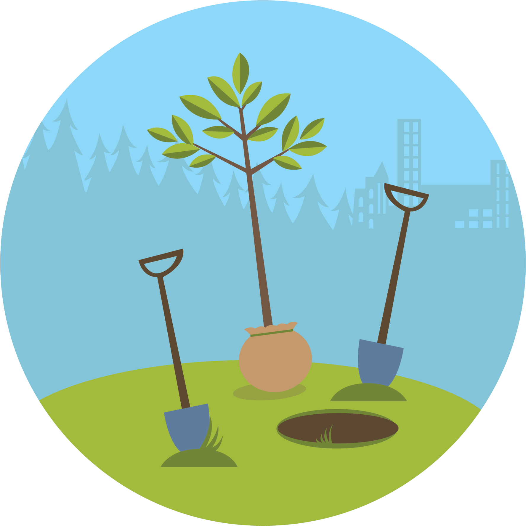 Tree Clipart Clipart Trгє - Plant A Tree Illustration - Png Download (1791x1791), Png Download