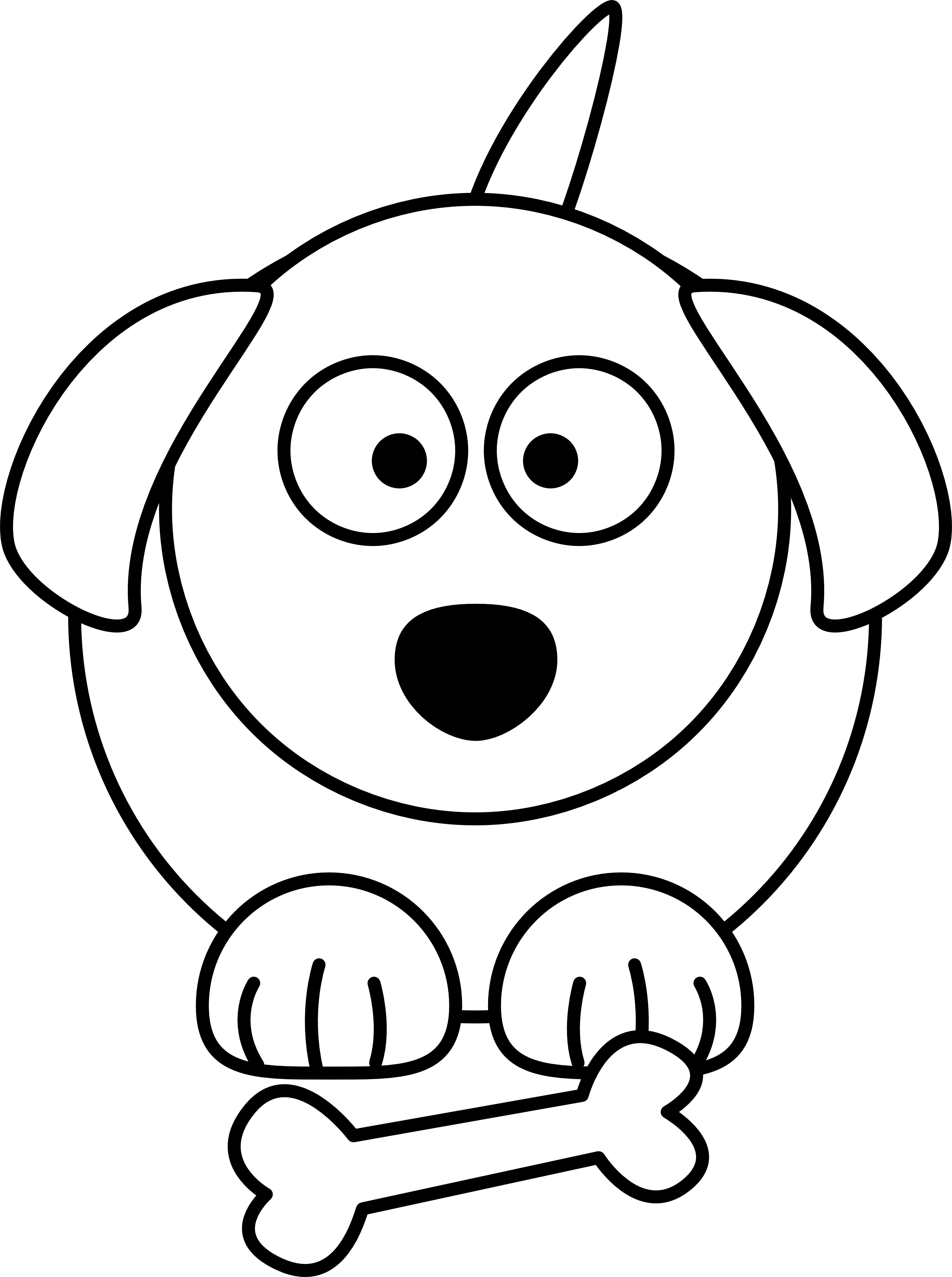 Dog Black And White Black And White Dog Cartoon Free Cartoon Dog Line Drawing Clipart Full Size Clipart 4068 Pinclipart