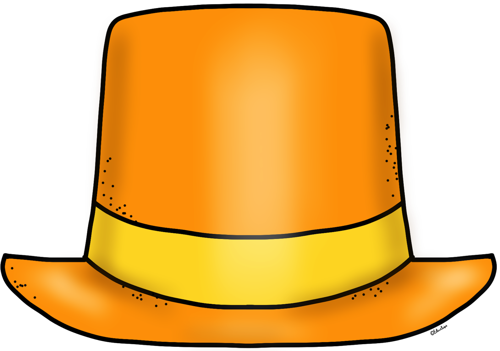 Clip Arts Related To - Orange Top Hat Clipart - Png ...