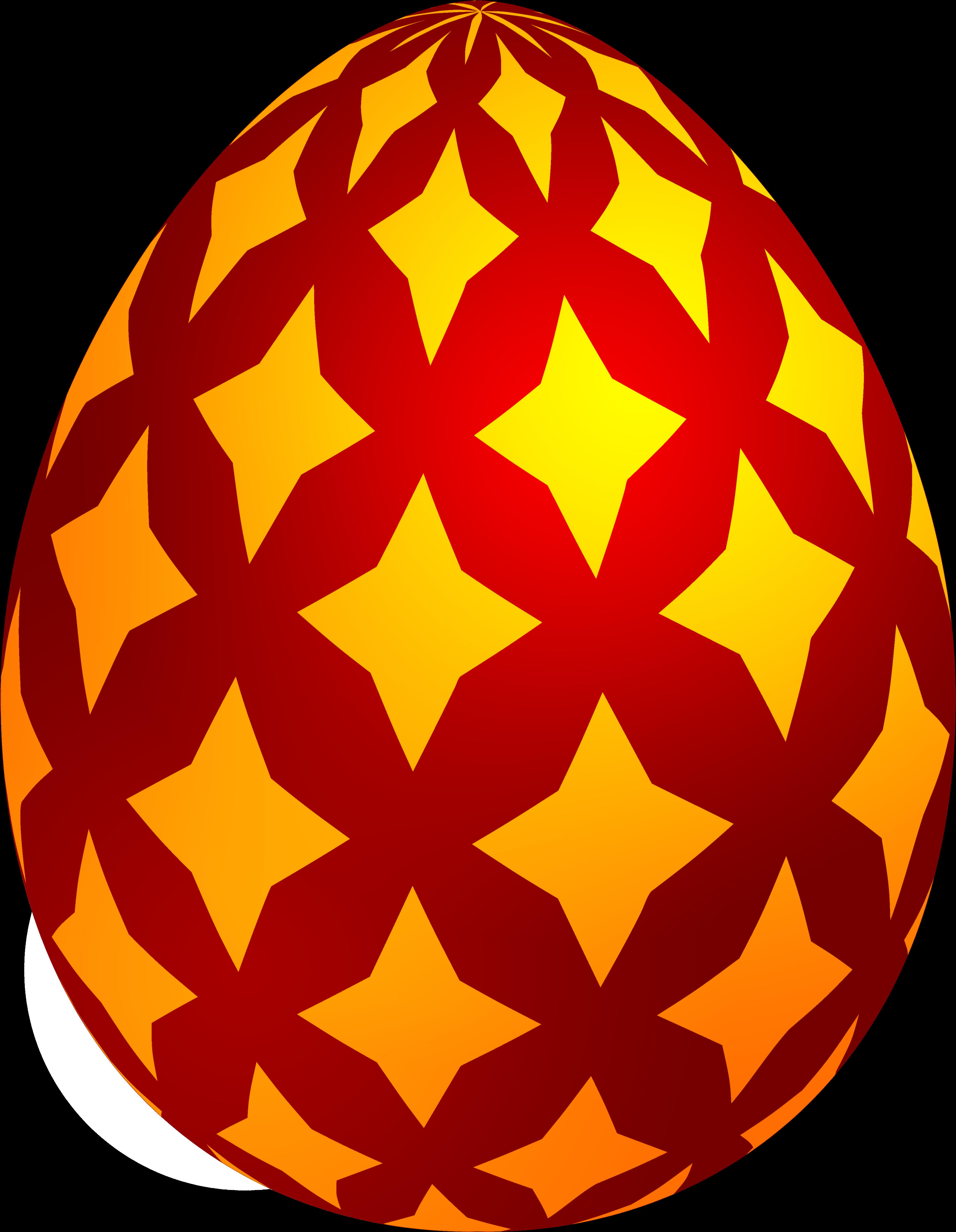 Red Easter Decorative Egg Png Clip Art - Easter Egg Png ...