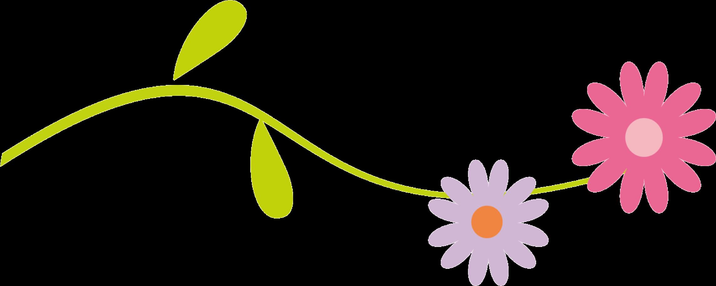Floral Divider Clipart - Clip Art Flowers Line - Png ...