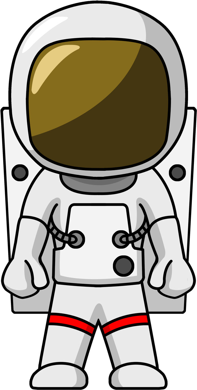 retro astronaut clip art - 701×1389