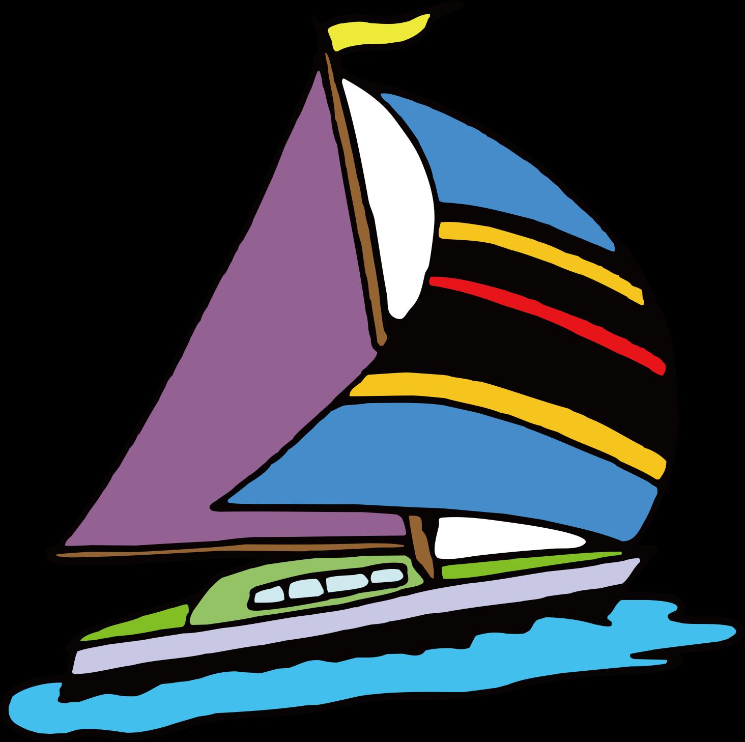 Sailing Ship Clip Art   Sail Cartoon   Png Download   Full Size ...