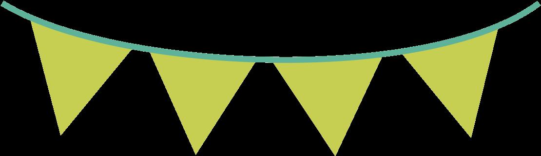 Pennant Banner Clipart - Green Flag Banner Png Transparent ...
