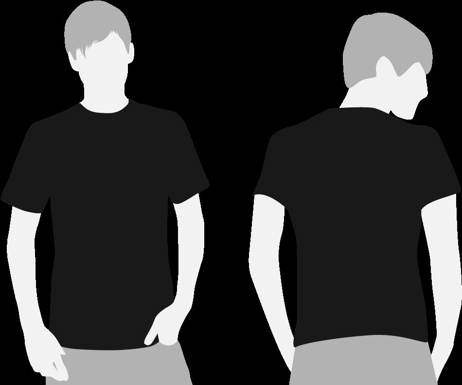 Vector Royalty Free Library Black Shirt Clipart - Black T ...