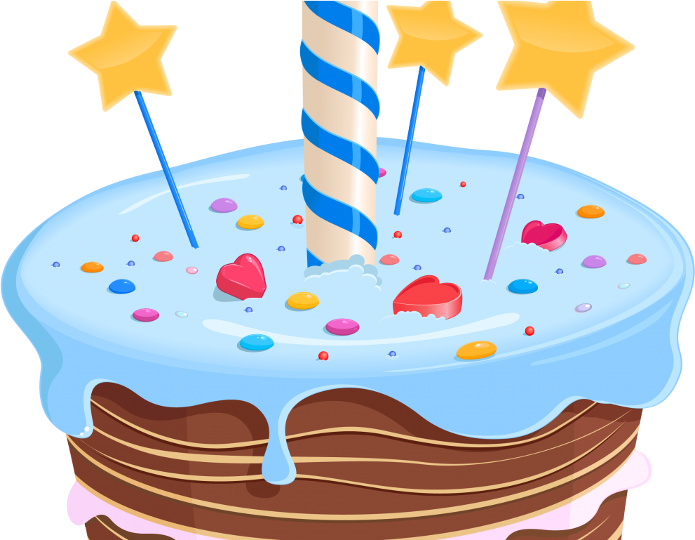Cake fancy. Birthday clipart first png