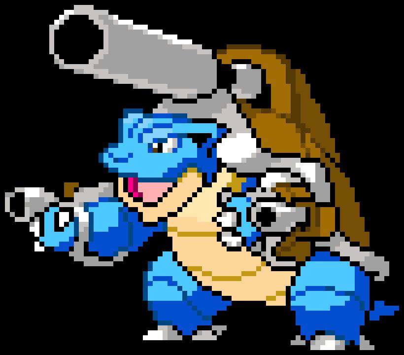Image Free Download Art Maker Mega Blastoise Pixel Art