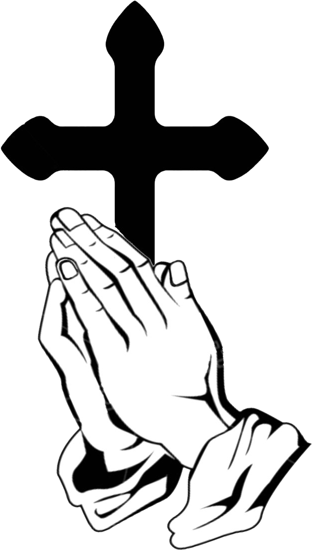 Praying Hands Prayer Can Truly Change Your Life Praying Hand With Cross Clipart Full Size Clipart 1060695 Pinclipart