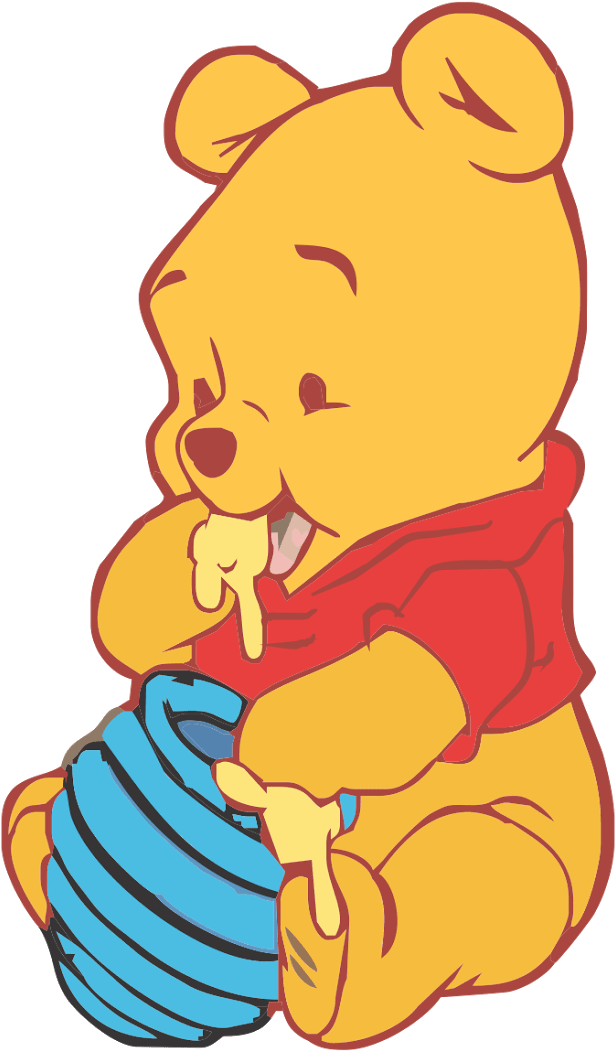 baby winnie the pooh vector clipart  full size clipart