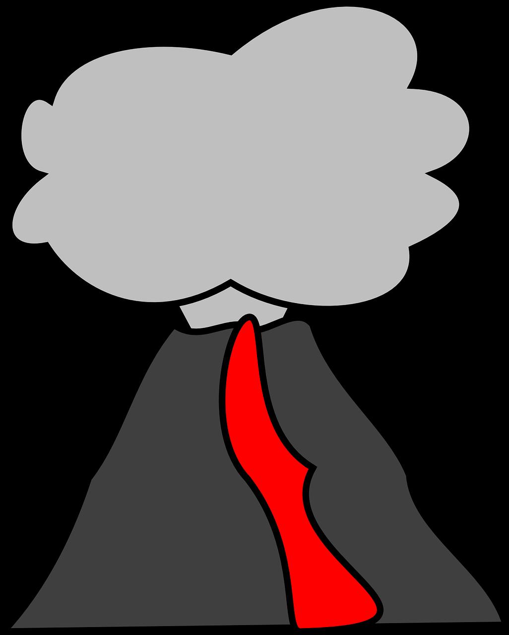 Volcano Nature Clip Art Gambar Gunung Meletus Animasi
