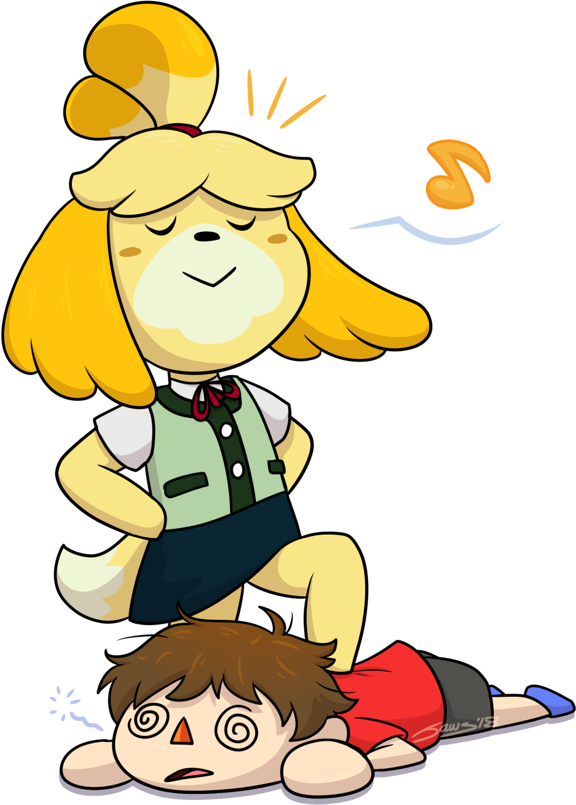 Isabelle And Villager Clipart - Full Size Clipart ...
