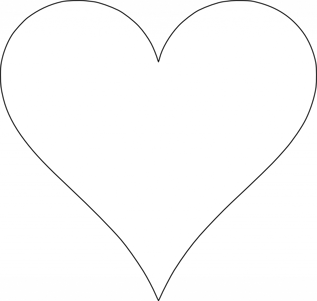 It is a graphic of Printable Heart Shapes pertaining to preschool