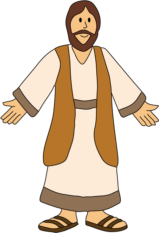 Flat Jesus Colored Flat Jesus Clipart Full Size