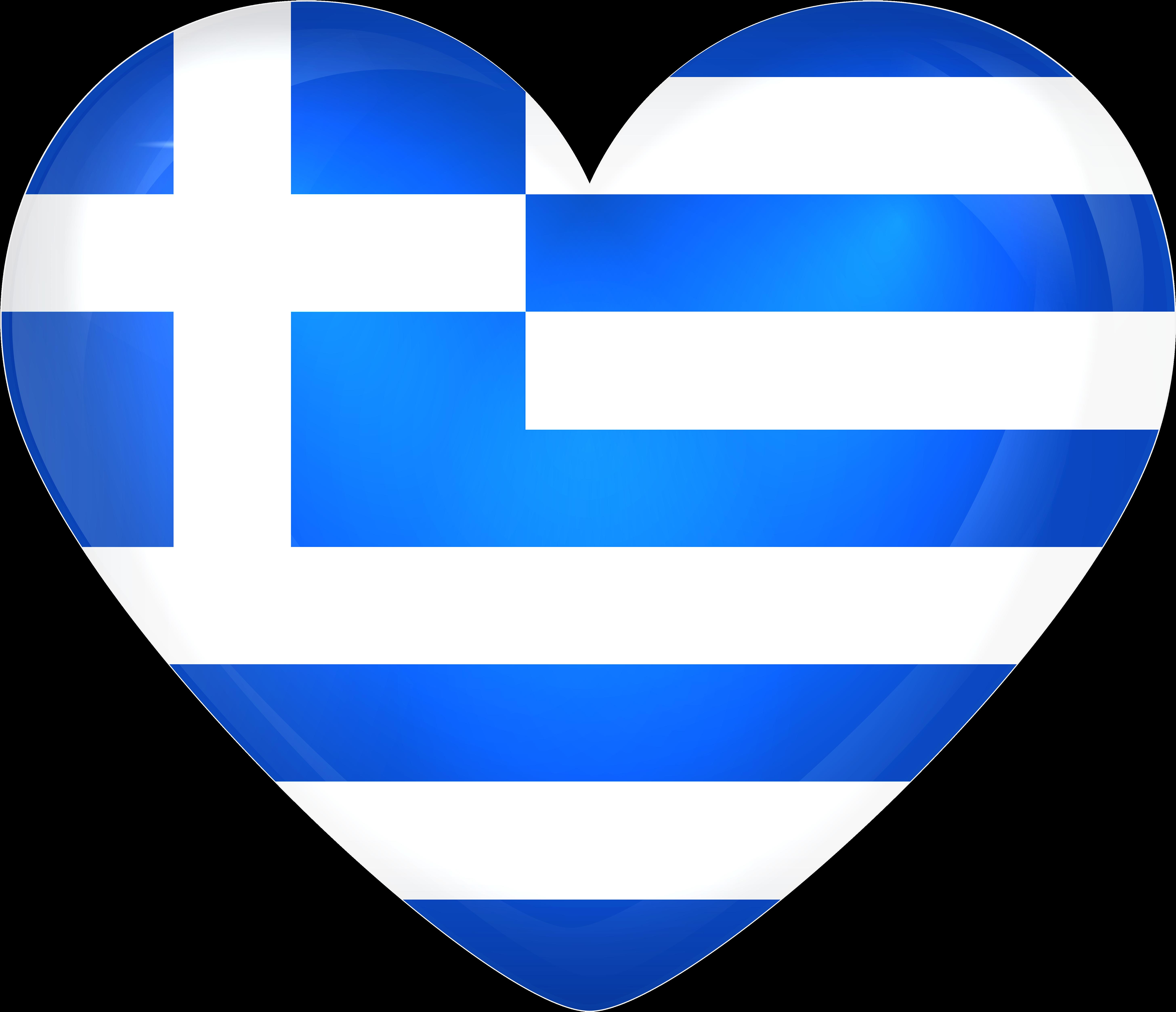 Greece Large Heart Flag Gallery Yopriceville High   Greece Flag ...