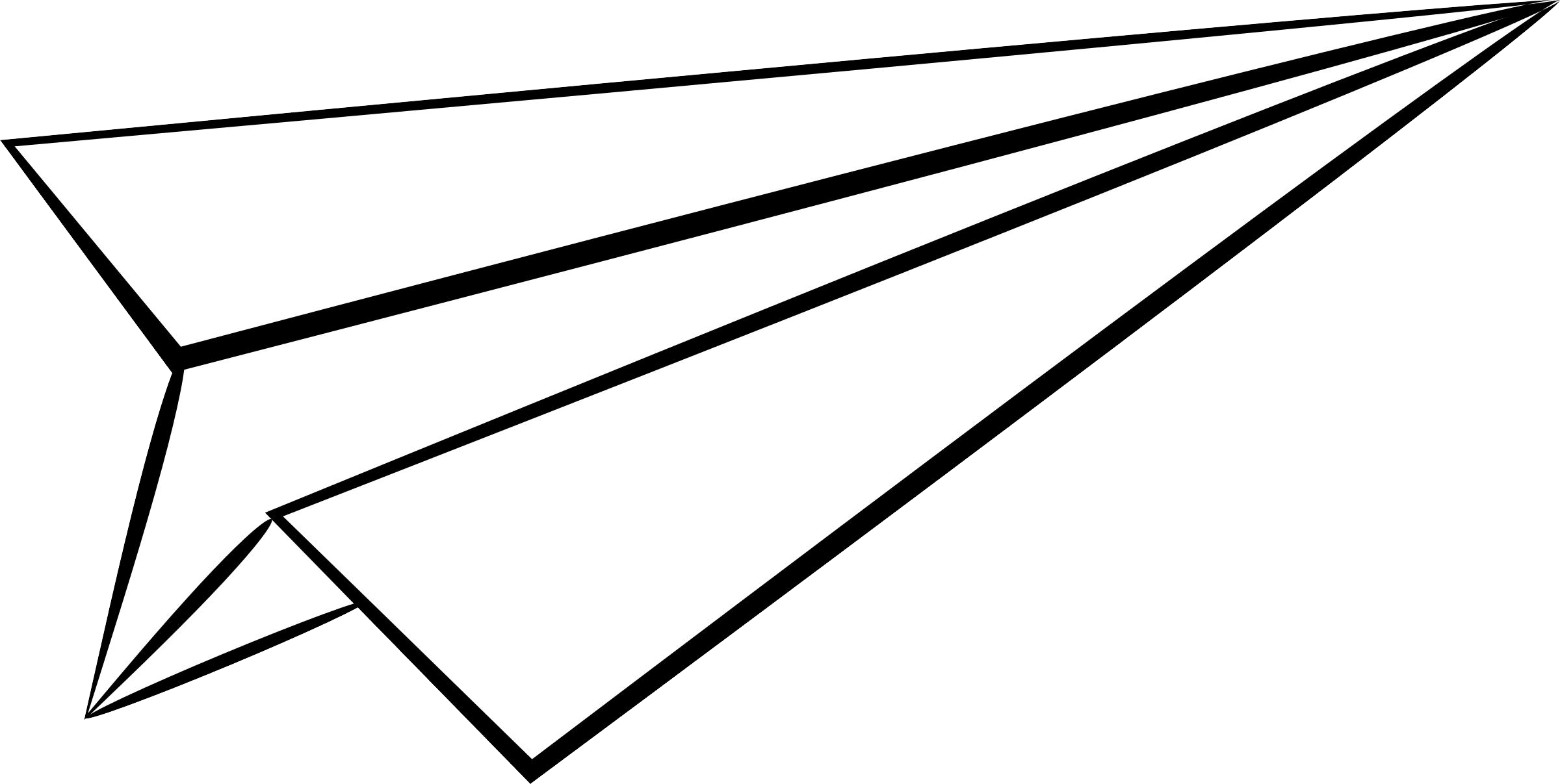 Paper Airplane Clipart Paper Airplane Line Drawing Png