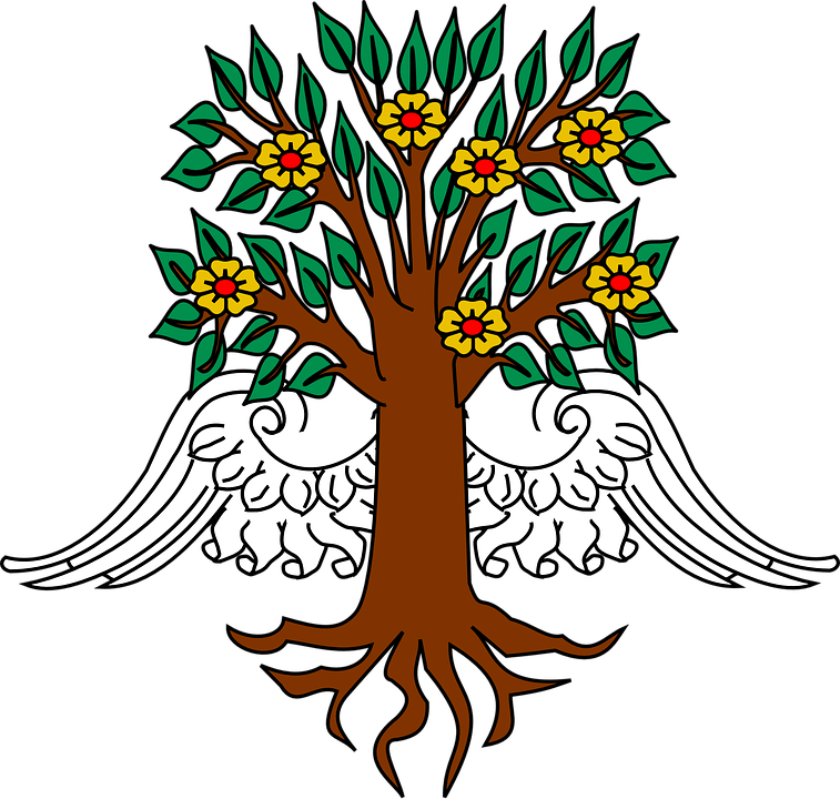 Tree With Roots Clipart 15, Buy Clip Art - Arvore Com Asas ...