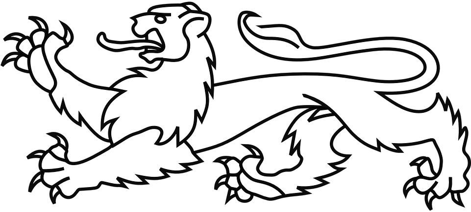 Lion Line Drawing 8 Buy Clip Art Heraldic Lion Passant Guardant Png Download Full Size Clipart 1233263 Pinclipart