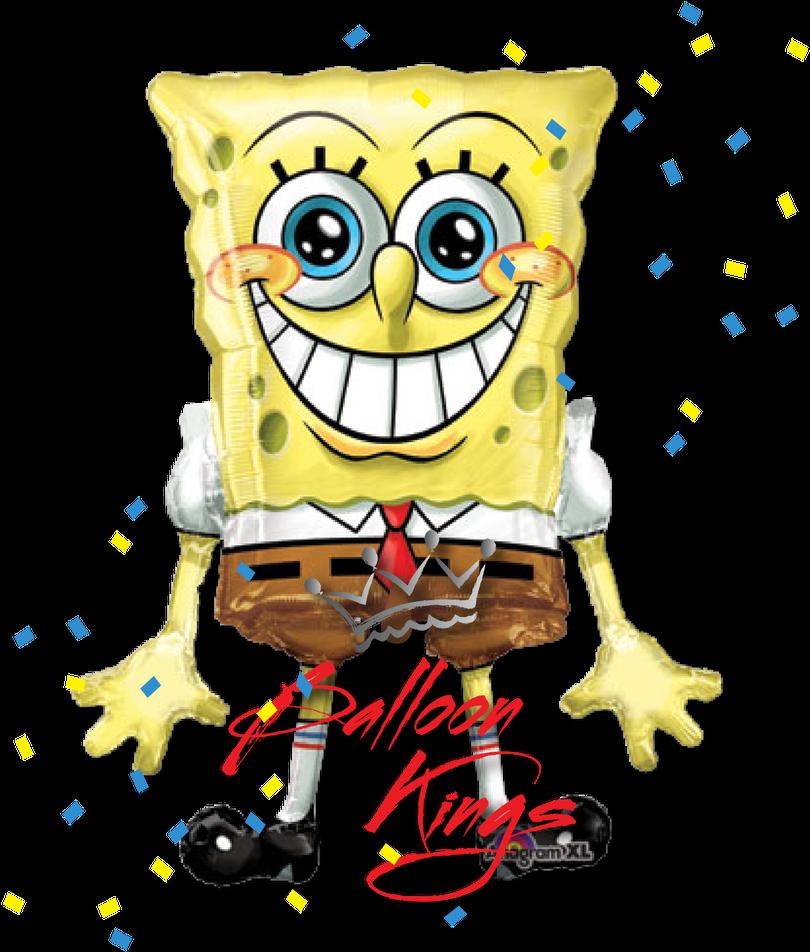 Spongebob Airwalker Sunger Bob Boyama Kitabi Clipart Full Size