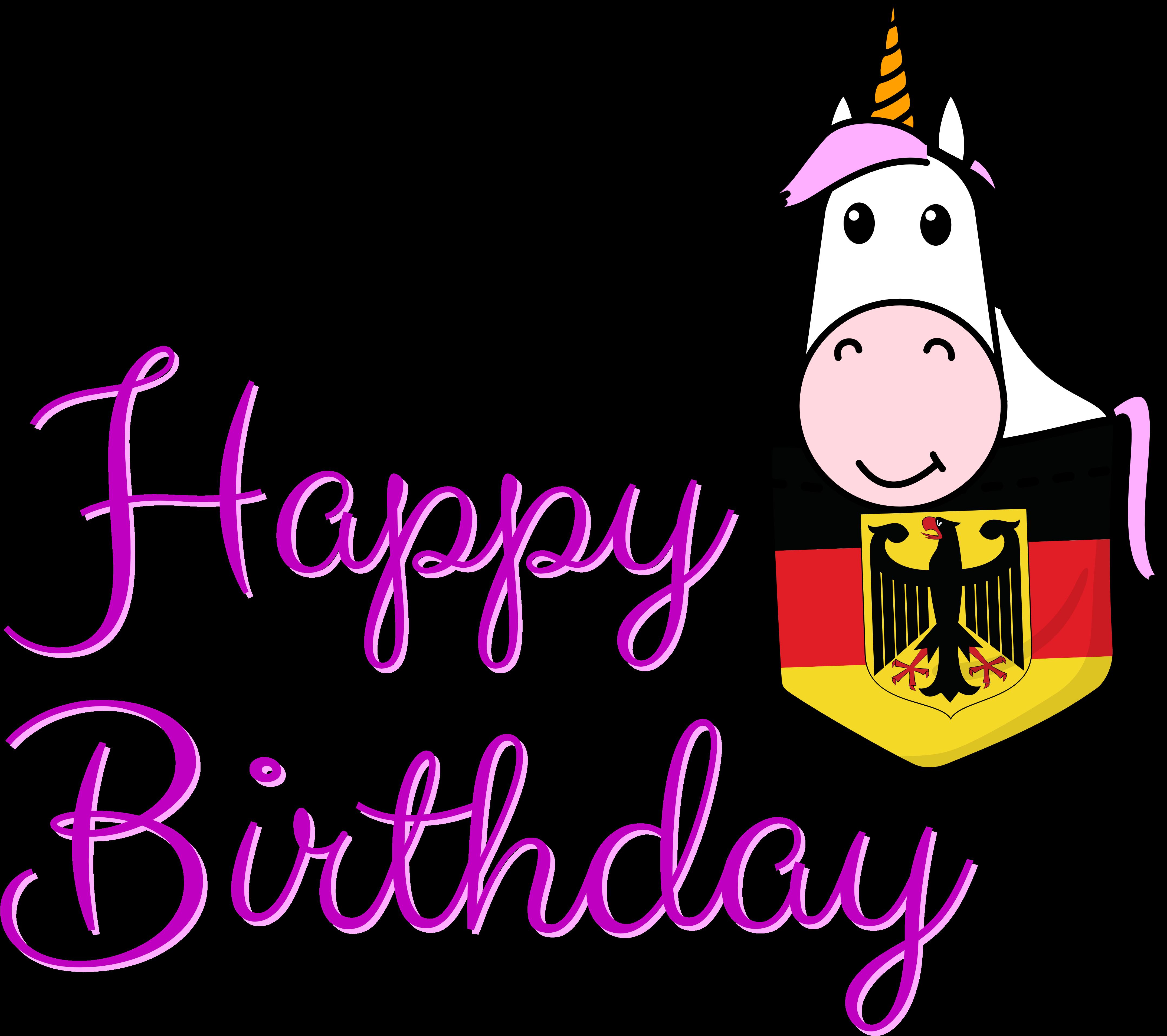 einhorn geburtstag clipart  happy birthday spacial peepol