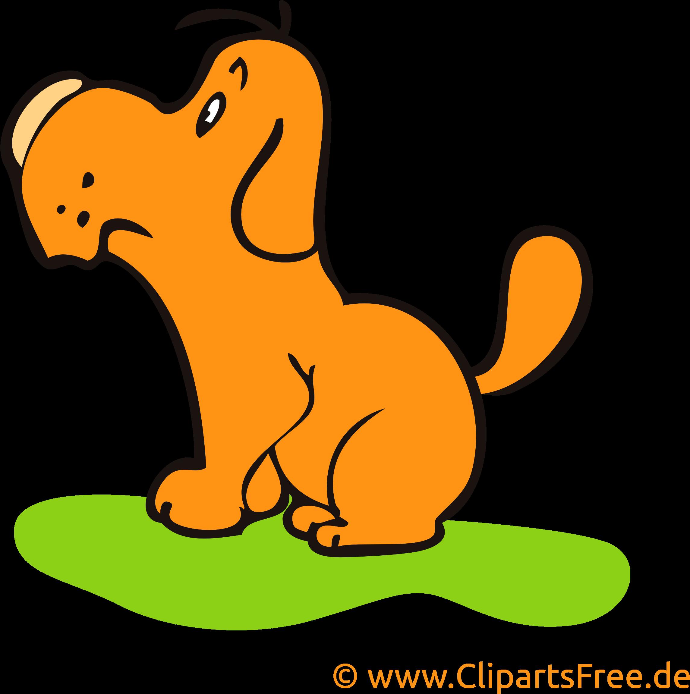 Hund Auf Wiese Clipart Bild Cartoon Kostenlos Free Clip Art Png