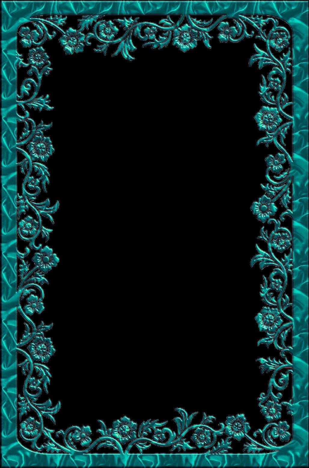 Arabesco Moldura Azul Png Clipart Full Size Clipart 1265712