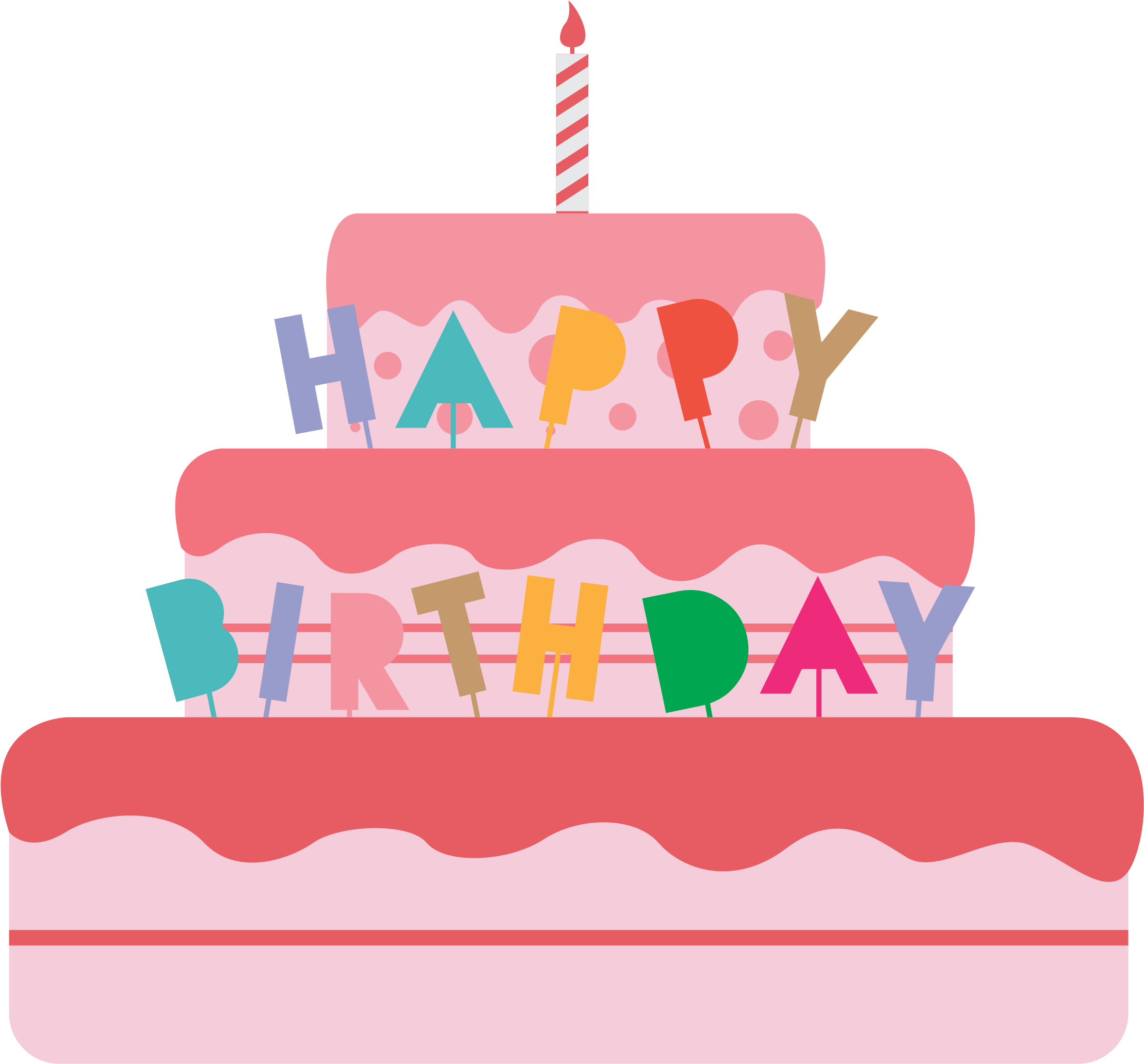 Pleasant Big Image Birthday Cake Vector Png Clipart Full Size Clipart Personalised Birthday Cards Beptaeletsinfo