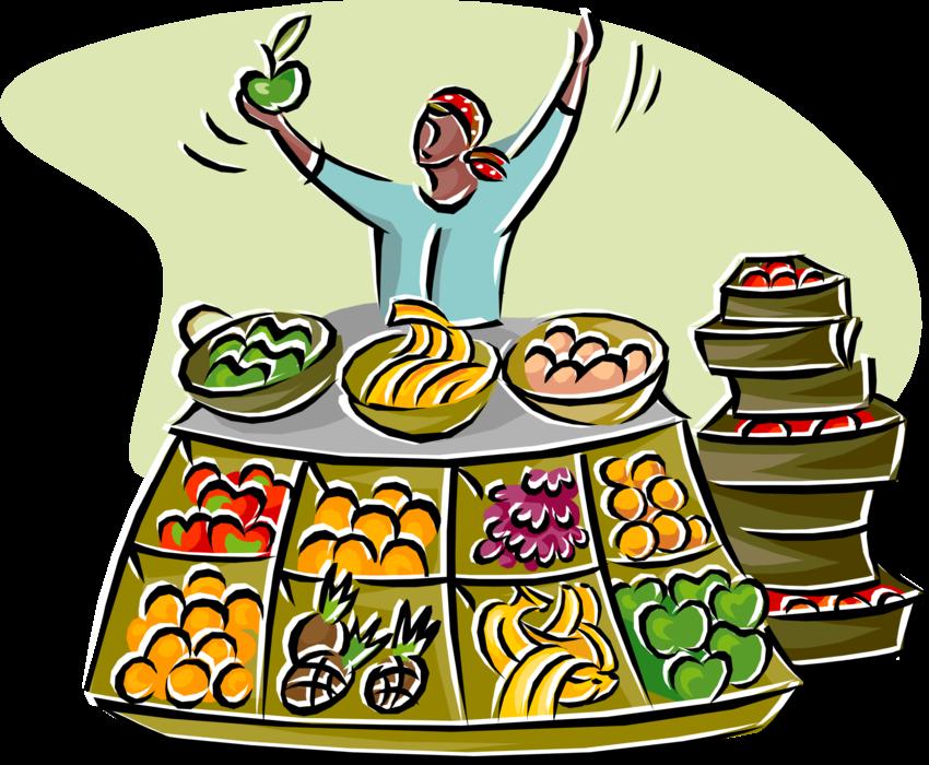 Download Vector Illustration Of Outdoor Market Vendor ... (850 x 700 Pixel)