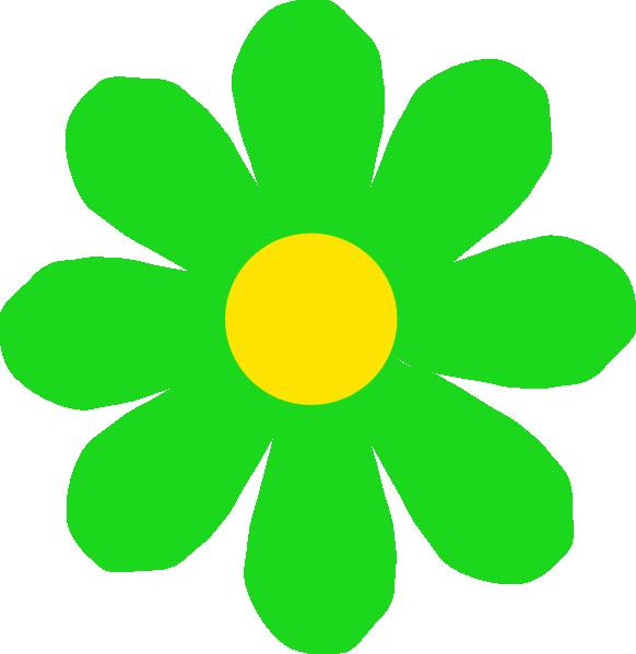 Touchdown Clipart - Neon Green Flower Clipart - Png ...