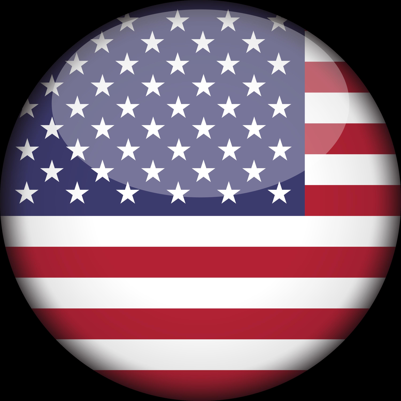 Clip Art United States Of America Flag 3d Round - Round ...