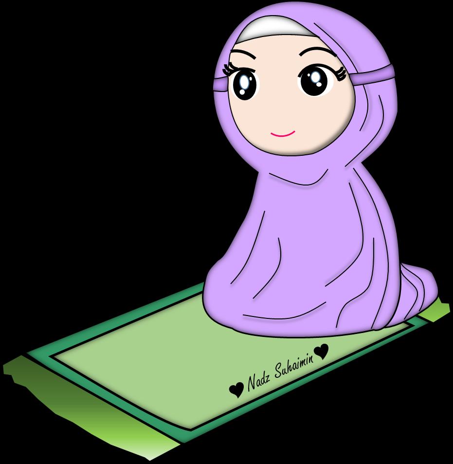 Islam Clipart Solat Gambar Kartun Muslimah Shalat Png Download Full Size Clipart 1367298 Pinclipart