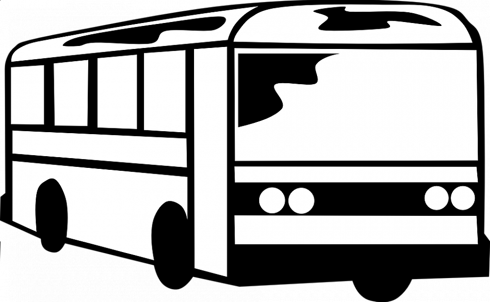 Clip Art Black And White Bus Png Download Full Size Clipart
