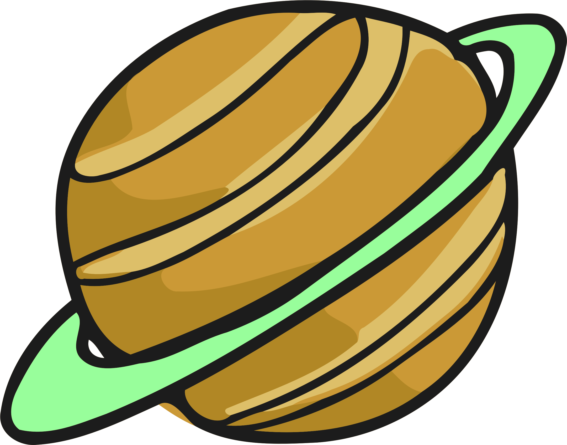 Planet Computer Icons Gas Giant Saturn Encapsulated - Gas Planet Clipart - Png Download (954x750), Png Download