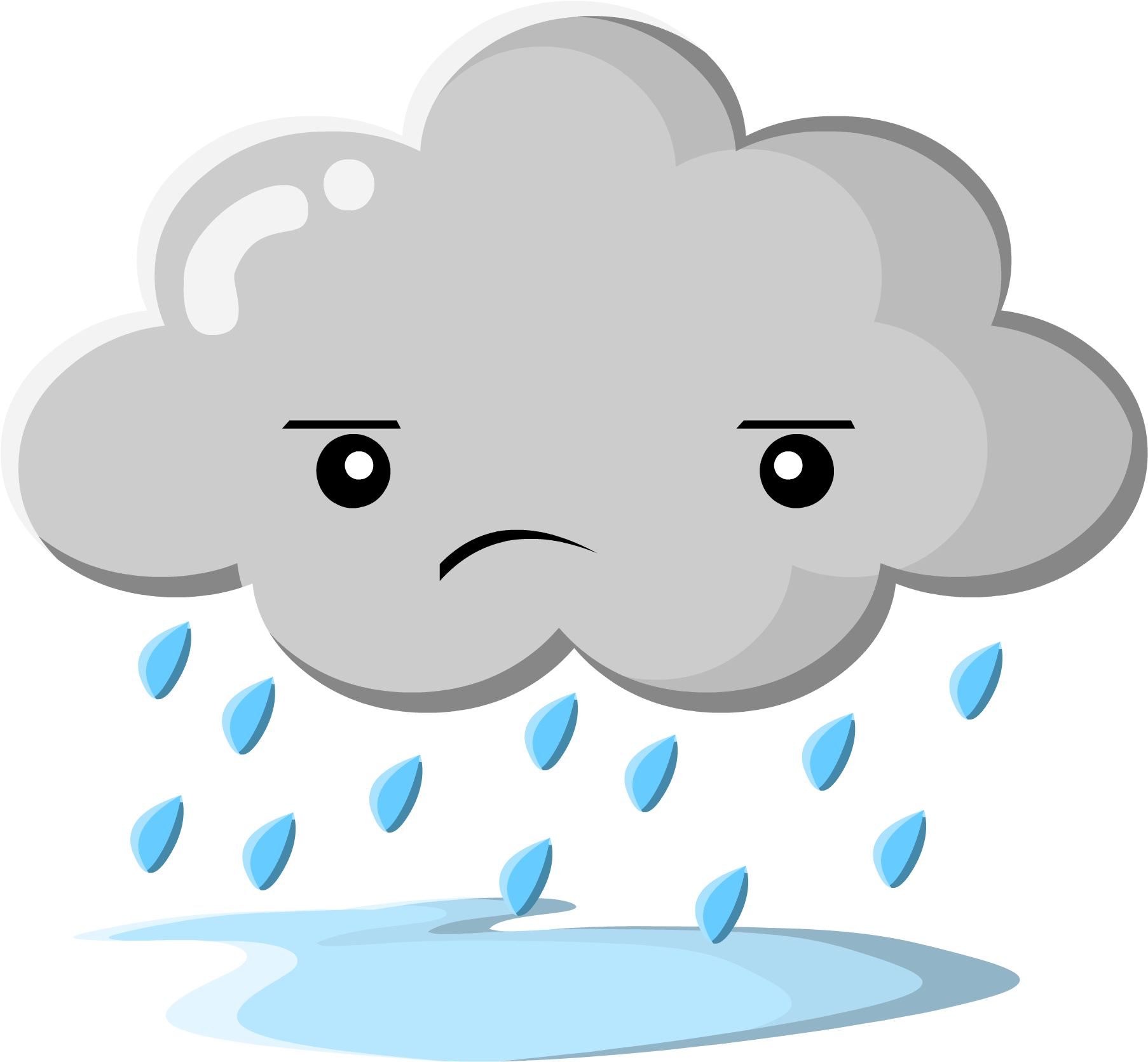 Dark Clouds Cartoon Clip Art