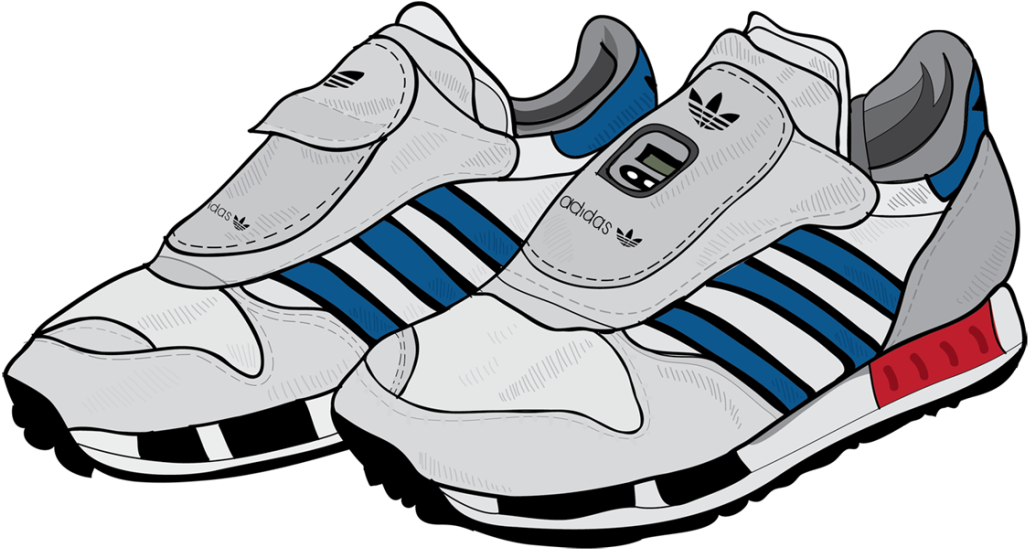 Running Shoe Clipart , Transparent Adidas Cartoon Shoes