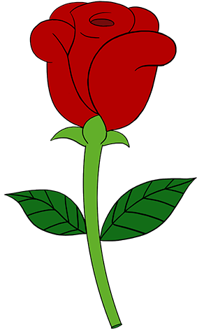 Rose easy. Related clip art simple