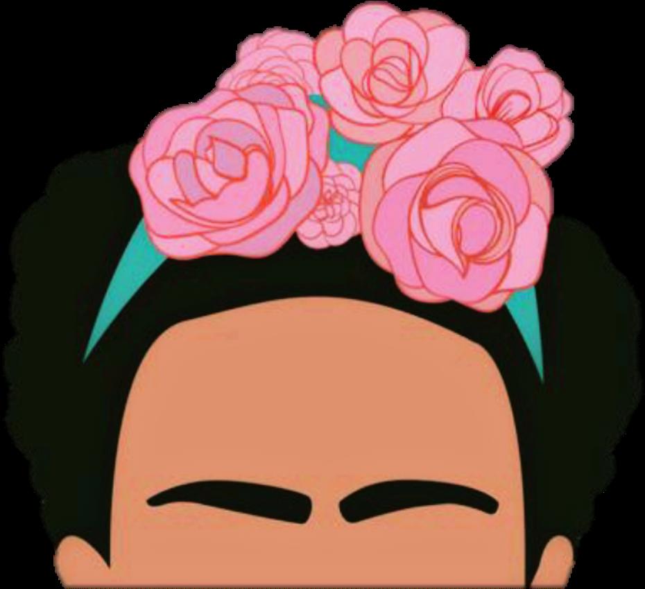 Frida Fridakhalo Woman Flower Eyebrows Drawing Celebrat ...