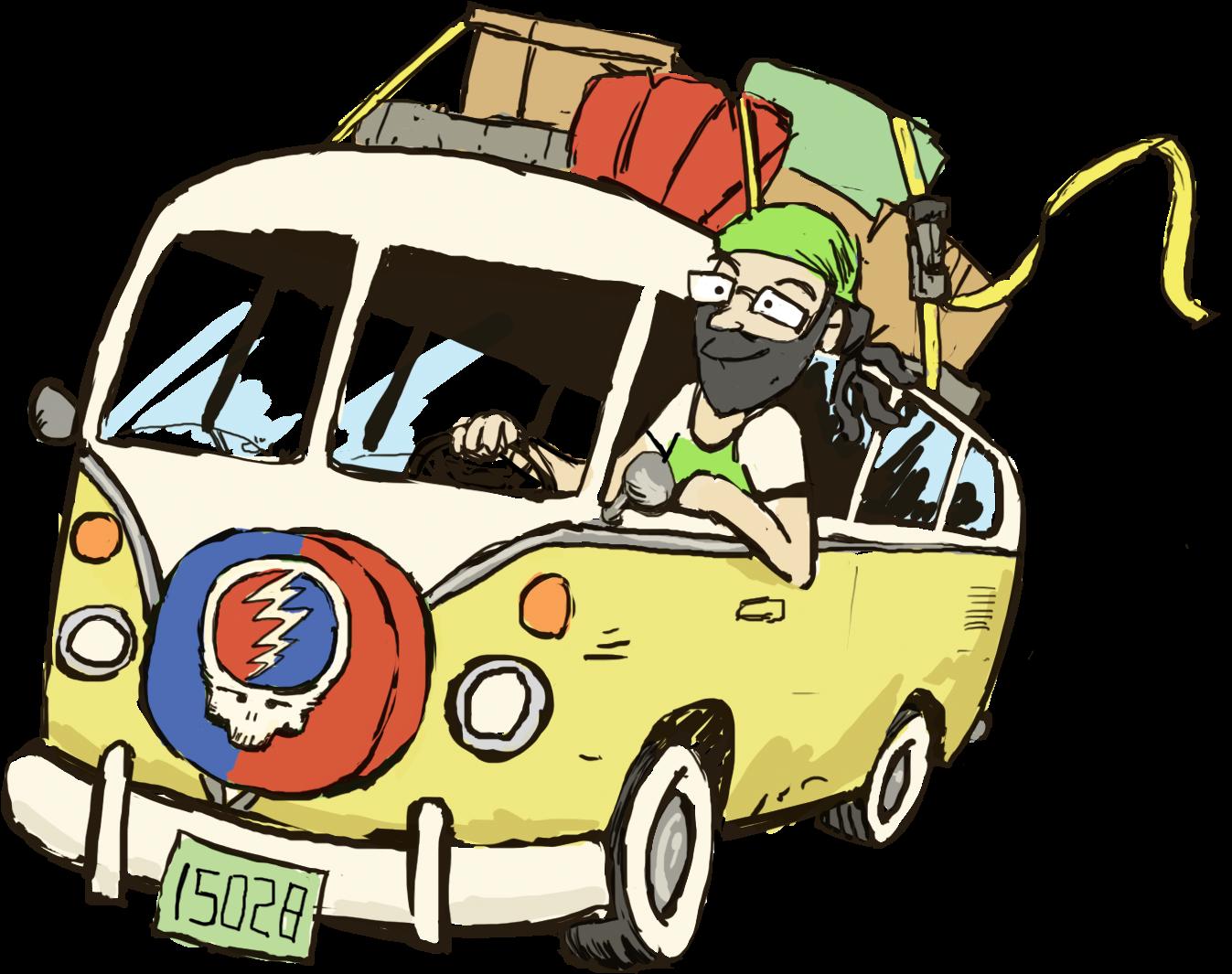 Shane And Vw Van Cartoon Clipart Full Size Clipart