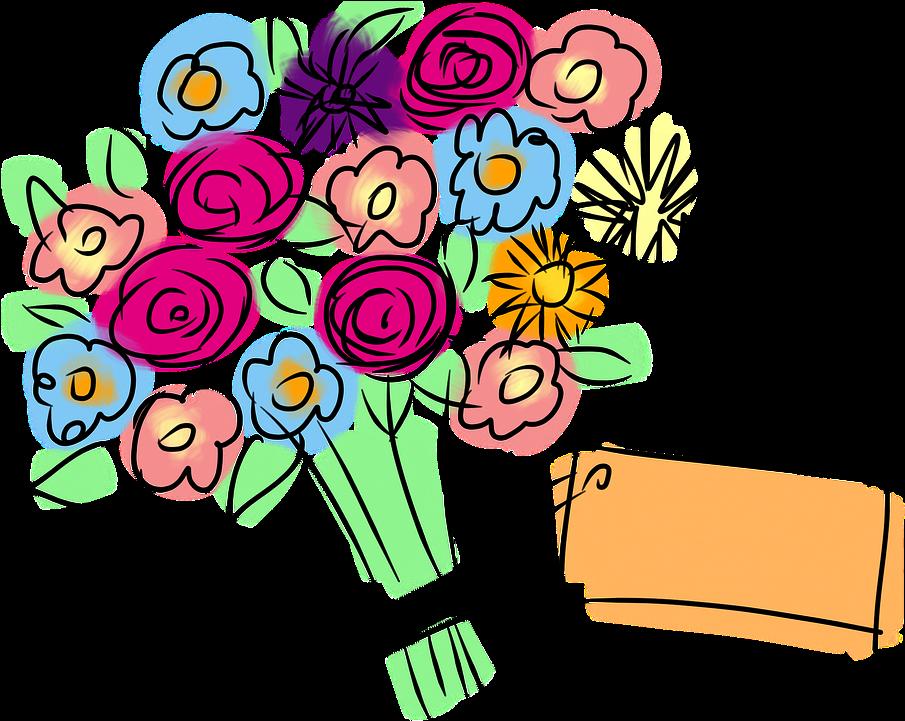 картинки с букетами цветов мультяшные созвучие моего