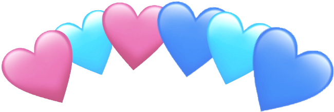 Heart Crown Love Blue Pink Dark Light Bts Kpop Freetoed - Light Pink