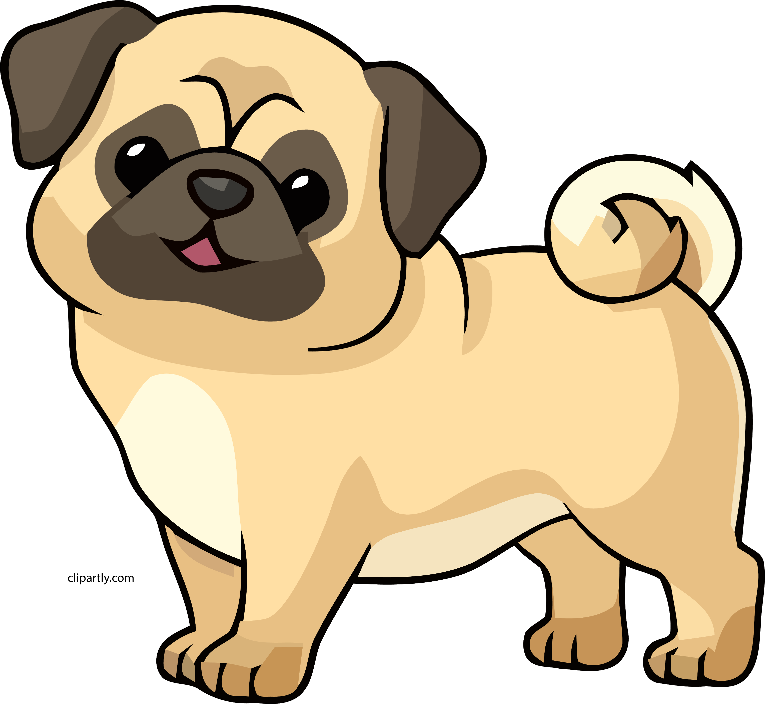 Navajowhite Color Dog Cute Chibi Clipart Png