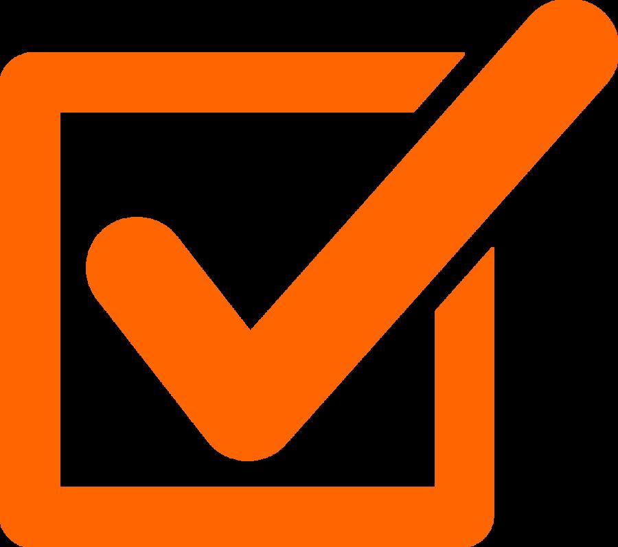 Orange Checkmark Clipart Check Mark Clip Art - Tick Mark ...