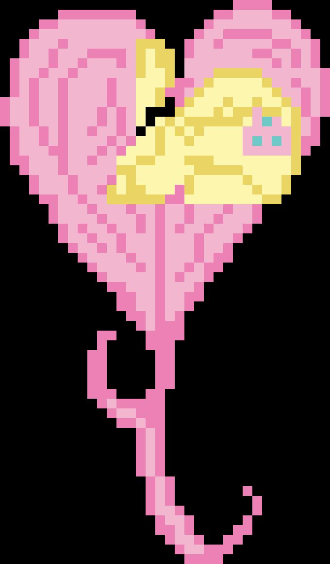 Pixel Heart Fluttershy Adventure Time Pixel Art