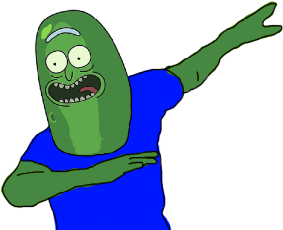 Pickle Rick Dab Transparent Clipart - Full Size Clipart ...