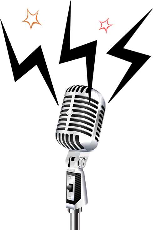 Microphones-radio - Png Stand Up Mic Clipart - Full Size Clipart (#1751185)  - PinClipart