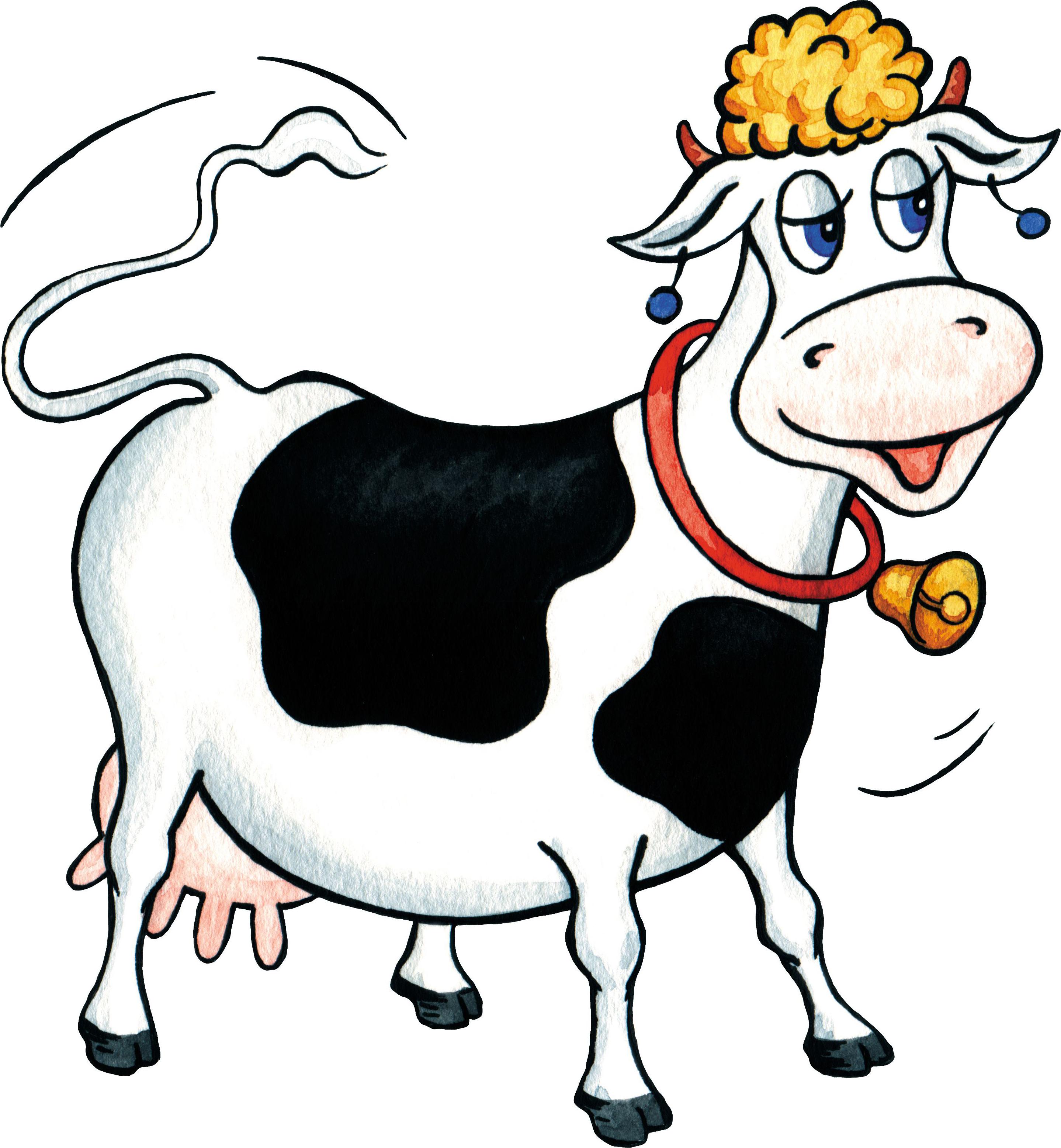 Картинки животных для детей цветные красивые корова