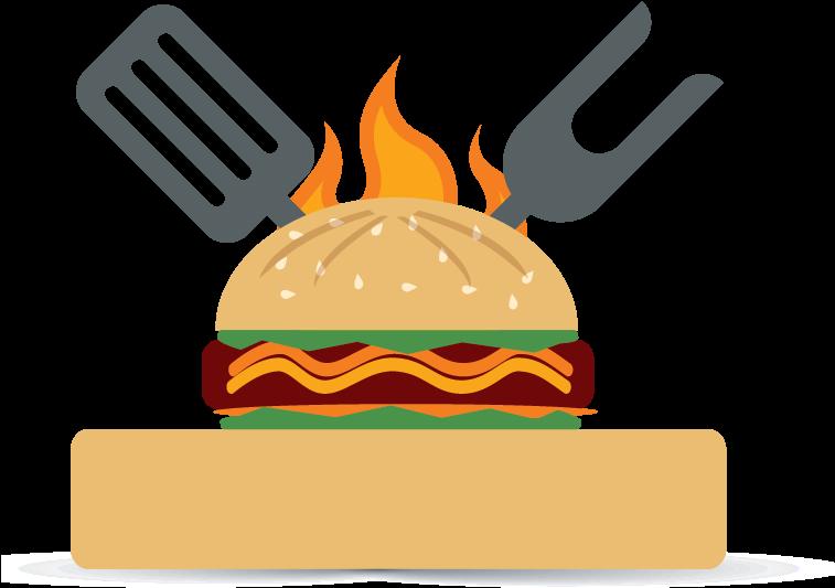 Hamburgers Clipart Burger Restaurant - Fast Food Restaurant Clipart Png,  Transparent Png - 1754x1422(#3739629) - PngFind