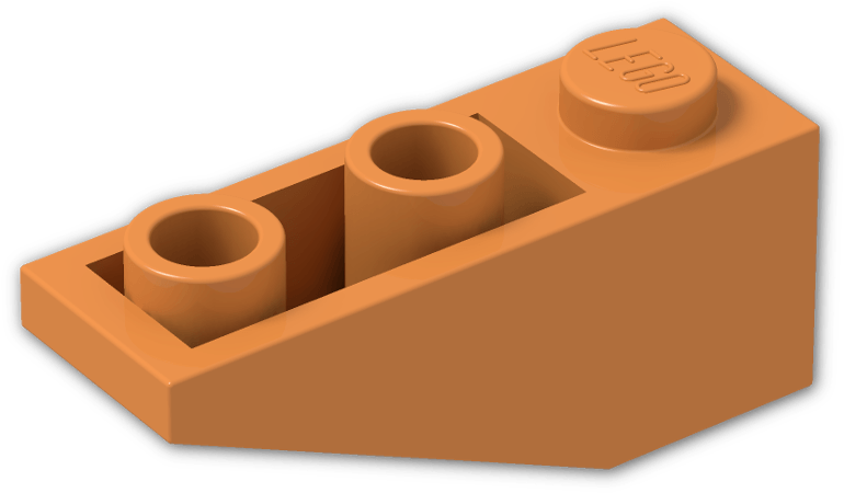 Lego 4 Reddish Brown 3x1 Inverted brick block Slopes NEW