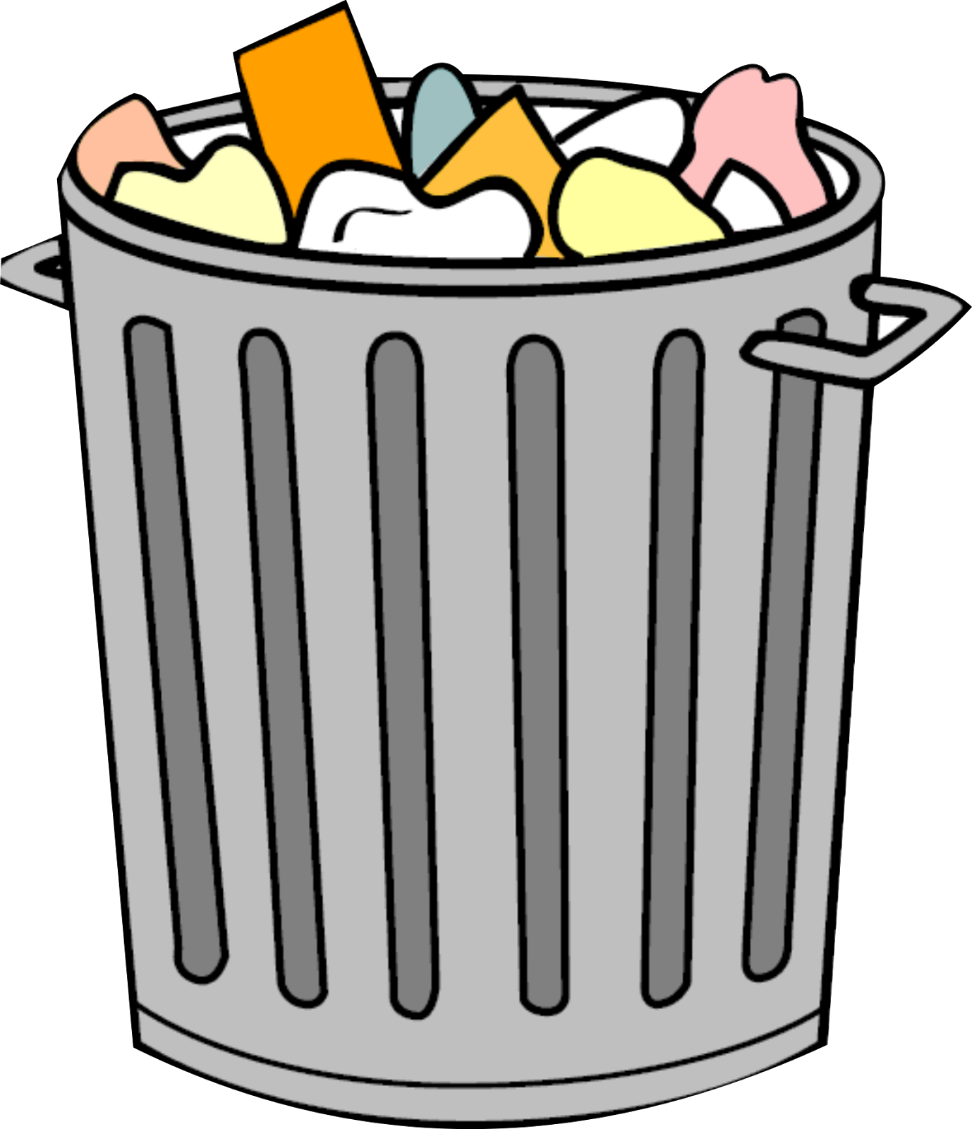 Kartun Tempat Sampah Clipart